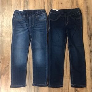Crazy 8 Girl's Pull On Jeggings 2 Pairs NWT